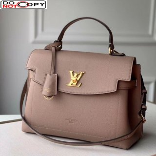 Louis Vuitton Lockme Ever MM Bag in Soft Grained calfskin M51395 Beige bag