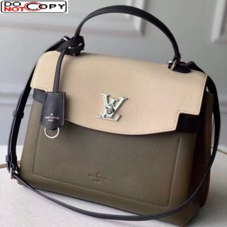 Louis Vuitton Lockme Ever MM Bag in Soft Grained calfskin M51395 Green bag