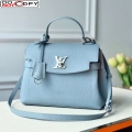 Louis Vuitton Lockme Ever MM Bag in Soft Grained calfskin M51395 Light Blue bag