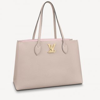Louis Vuitton Lockme Shopper Tote Bag in Grained Leather M57346 Beige bag