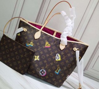 Louis Vuitton Love Lock Monogram Canvas Neverfull MM Tote Bag M44364 bag