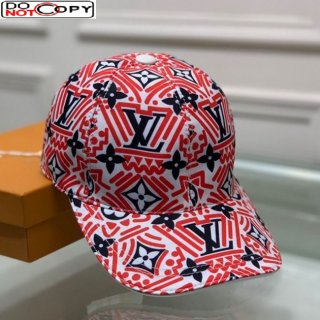Louis Vuitton LV Crafty Baseball Hat Red