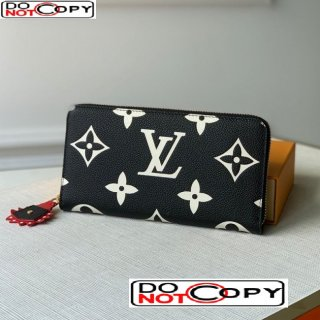 Louis Vuitton LV Crafty Zippy Wallet in Giant Monogram Leather M69521 Black