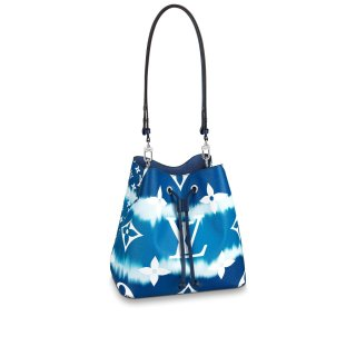 Louis Vuitton LV Escale NeoNoe MM Drawstring Bucket Bag M45126 Blue bag