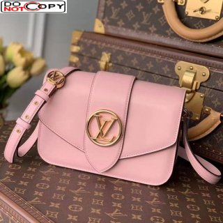 Louis Vuitton LV Pont 9 Shoulder Bag in Smooth Leather M57325 Pink bag