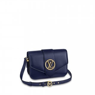 Louis Vuitton LV Pont 9 Shoulder Bag M56454 Navy Blue bag