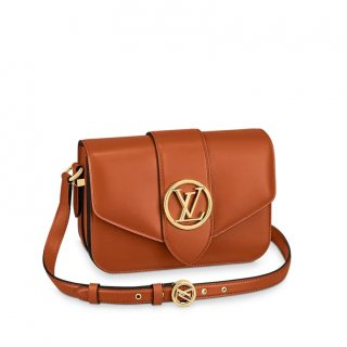 Louis Vuitton LV Pont 9 Shoulder Bag M56456 Caramel Brown bag