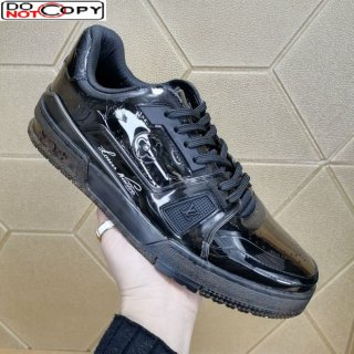 Louis Vuitton LV Trainer Transparent Low-top Sneakers Black (For Women and Men)