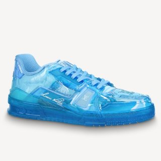 Louis Vuitton LV Trainer Transparent Low-top Sneakers Blue (For Women and Men)