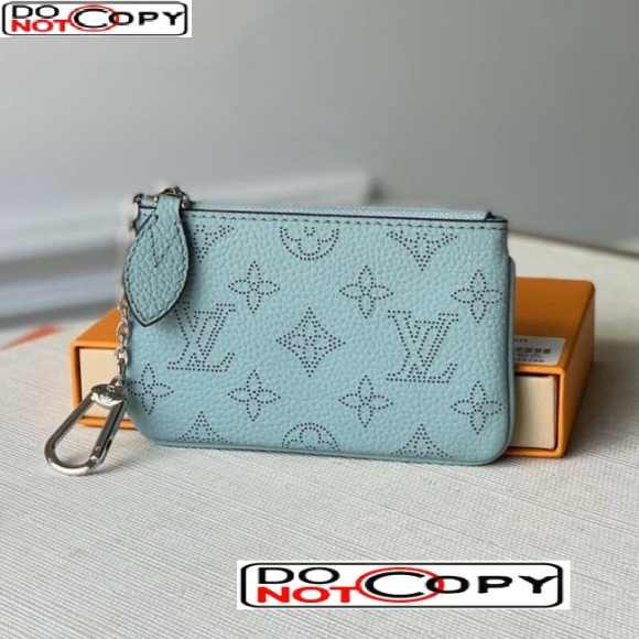 Louis Vuitton Mahina Key Pouch in Monogram Perforated Calfskin M69508 Blue