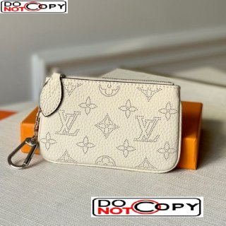 Louis Vuitton Mahina Key Pouch in Monogram Perforated Calfskin M69508 White
