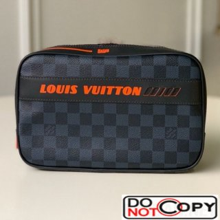 Louis Vuitton Men Damier Cobalt Canvas Toiletry Pouch GM N60245
