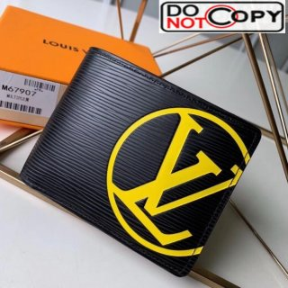 Louis Vuitton Men's Epi Leather Multiple Wallet With Oversized LV M67907 Yellow bag