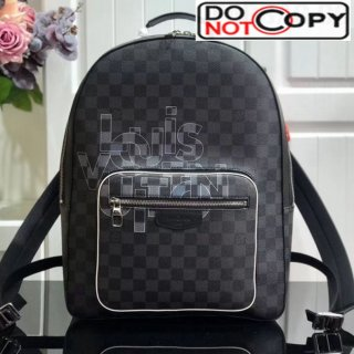 Louis Vuitton Men's Josh Damier Graphite Canvas Logo Print Backpack N41473 bag