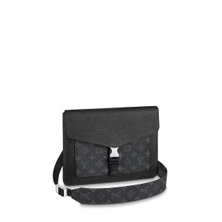 Louis Vuitton Men's Outdoor Flap Slim Messenger Shoulder Bag M30413 Black bag