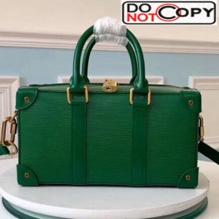 Louis Vuitton Men Runway Box Top Handle Bag in Epi Leather M44483 Green bag