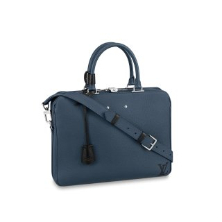 Louis Vuitton Men's Armand Briefcase MM Top Handle Bag M55228 Navy Blue bag