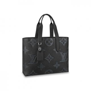 Louis Vuitton Men's Cabas Voyage Tote Bag in Oversize Monogram Embossed Leather M57290 bag