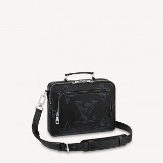 Louis Vuitton Men's Flight Case Messenger Bag in Oversize Monogram Embossed Leather M57287 bag