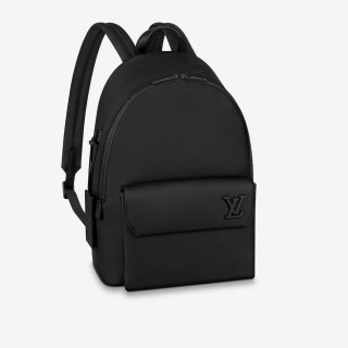 Louis Vuitton Men's Leather Matte Aerogram Backpack M57079 Black bag