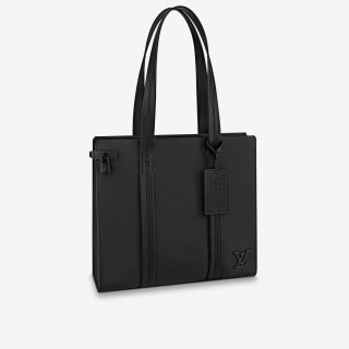 Louis Vuitton Men's Matte Aerogram Tote Bag M57308 Black bag