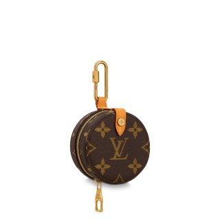 Louis Vuitton Men's Mini Round Case Monogram Canvas Coin Purse M68524