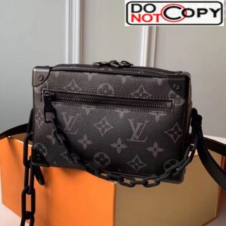 Louis Vuitton Men's Mini Soft Trunk Monogram Canvas Box Shoulder Bag M44480 Black