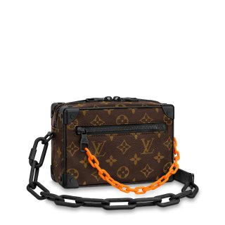 Louis Vuitton Men's Mini Soft Trunk Monogram Canvas Box Shoulder Bag M44480 Coffee