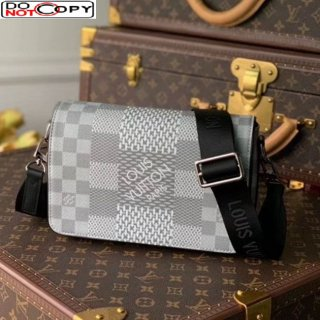 Louis Vuitton Men's Studio Messenger Bag in Damier 3D Canvas N20206 Light Grey bag
