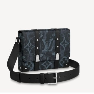 Louis Vuitton Men's Trunk Messenger Bag in Monogram Pastel Noir Canvas M57271 bag