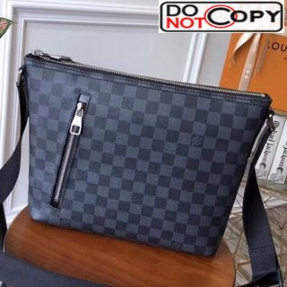 Louis Vuitton Mick Small Messenger Shoulder Bag in Damier Graphite Canvas M41211