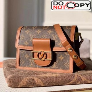 Louis Vuitton Mini Dauphine Monogram Canvas Shoulder Bag M44580 Coffee bag