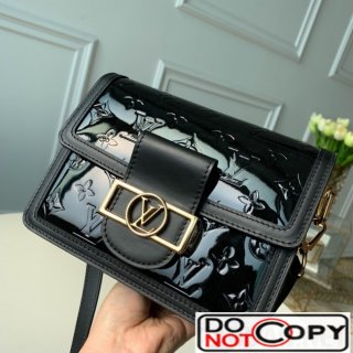 Louis Vuitton Mini Dauphine Shoulder Bag in Patent Leather M44580 Black