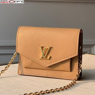 Louis Vuitton Mini Mylockme Chain Pochette Bag M69204 Beige bag