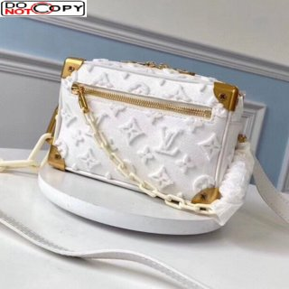 Louis Vuitton Mini Soft Trunk Bag in Embroidered Tuffetage Canvas M44480 White bag