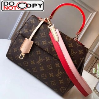 Louis Vuitton Monogram Canvas Cluny BB Top Handle Bag M43792 Red bag
