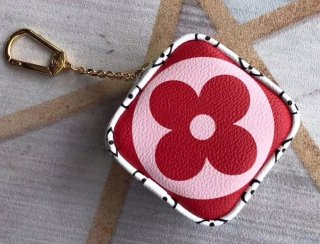 Louis Vuitton Monogram Canvas Cube Coin Purse M67669 Rouge bag