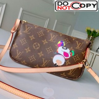 Louis Vuitton Monogram Canvas Mini Pochette Accessoires Pouch M51960 Panda Print bag