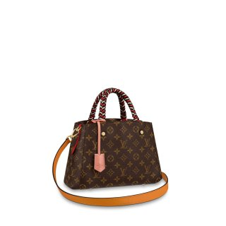 Louis Vuitton Monogram Canvas Montaigne BB Braided Top Handle Bag M44671 bag