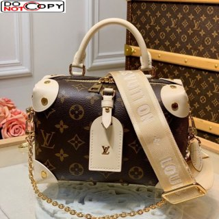 Louis Vuitton Monogram Canvas Petite Malle Souple Handbag M45531 White bag