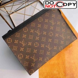Louis Vuitton Monogram Canvas Pochette Voyage MM Pouch M47543 Brown bag