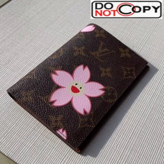 Louis Vuitton Monogram Canvas Print Passport Cover M64411 Pink bag
