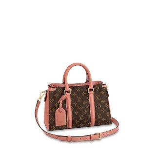 Louis Vuitton Monogram Canvas Soufflot BB Open Top Handle Bag M44815 Pink bag