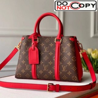 Louis Vuitton Monogram Canvas Soufflot BB Open Top Handle Bag M44815 Red bag