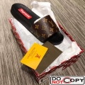 Louis Vuitton Monogram Canvas Supreme Mules Sandals Coffee