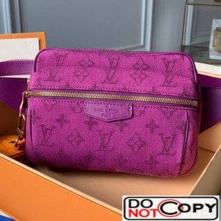 Louis Vuitton Monogram Denim Outdoor Bumbag Belt Bag M44624 Purple bag