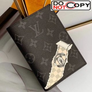 Louis Vuitton Monogram Eclipse Canvas Tearing Print Passport Cover M64411 bag