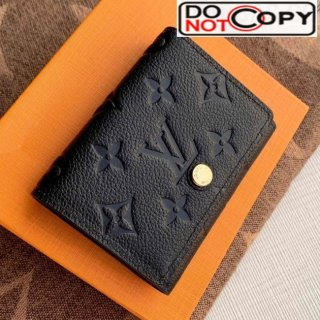 Louis Vuitton Monogram Empreinte Leather Business Card Holder M58456 Black bag