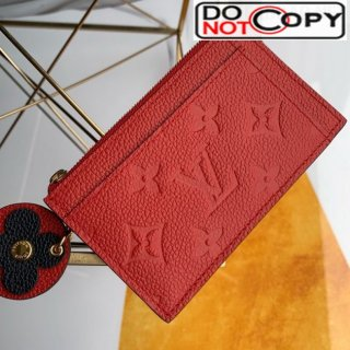 Louis Vuitton Monogram Empreinte Leather Flower Zipped Card Holder M68338 Red bag