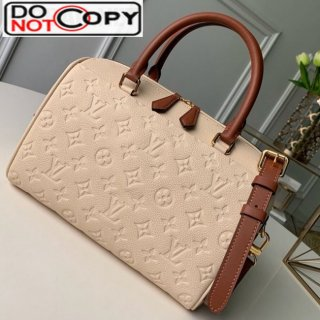 Louis Vuitton Monogram Empreinte Leather Speedy Bandouliere 30 M42406 Cream White bag
